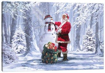Forest Santa Landscape  Canvas Art Print