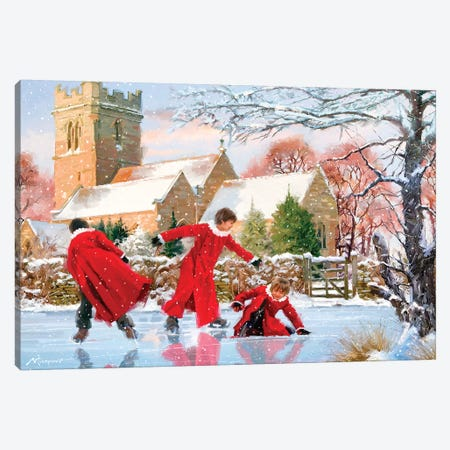Frozen Pond Canvas Print #MNS323} by The Macneil Studio Canvas Art