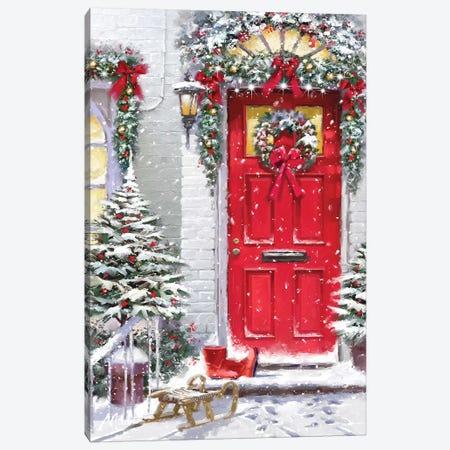 Garland Door  Canvas Print #MNS326} by The Macneil Studio Canvas Art Print