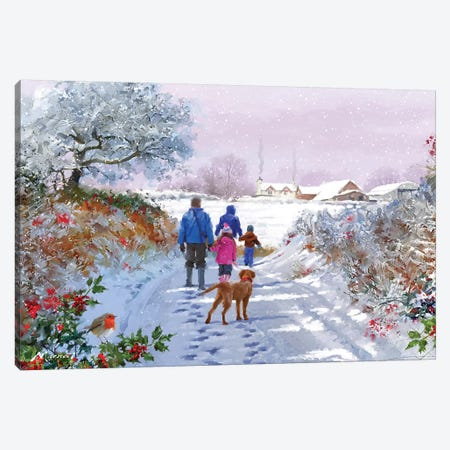 Going For A Walk Canvas Print #MNS334} by The Macneil Studio Canvas Artwork