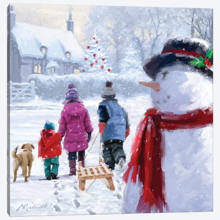 Going Home I Canvas Print #MNS335} by The Macneil Studio Canvas Wall Art