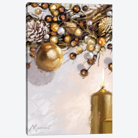 Gold Candles Canvas Print #MNS337} by The Macneil Studio Canvas Wall Art