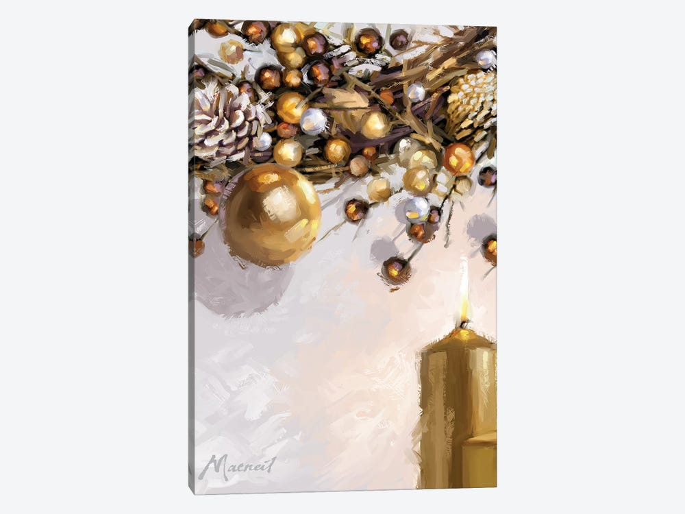 Gold Candles by The Macneil Studio 1-piece Canvas Art Print