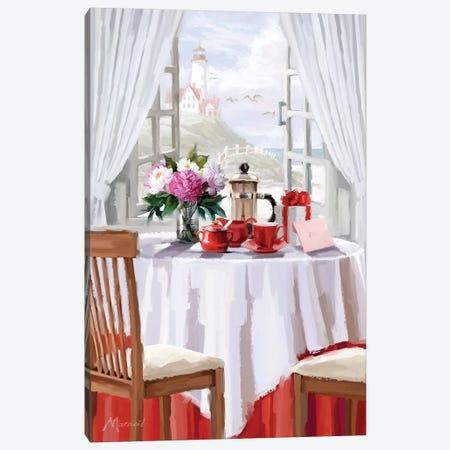 Coffee Shop Canvas Print #MNS33} by The Macneil Studio Canvas Art Print