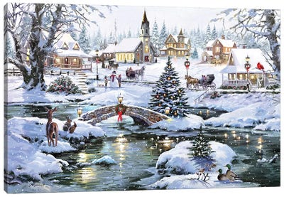 Icy Lights Canvas Art Print