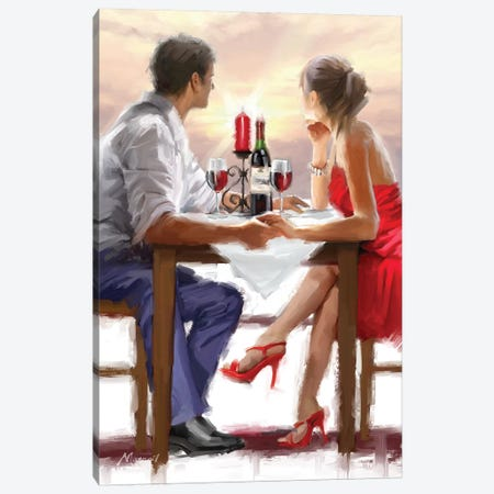 Valentine Sunset Canvas Print #MNS37} by The Macneil Studio Canvas Artwork
