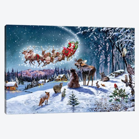 Magical Xmas USA Canvas Print #MNS388} by The Macneil Studio Canvas Artwork