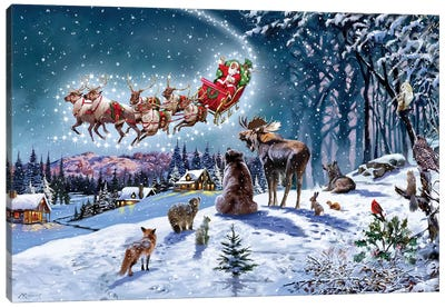 Magical Xmas USA Canvas Art Print