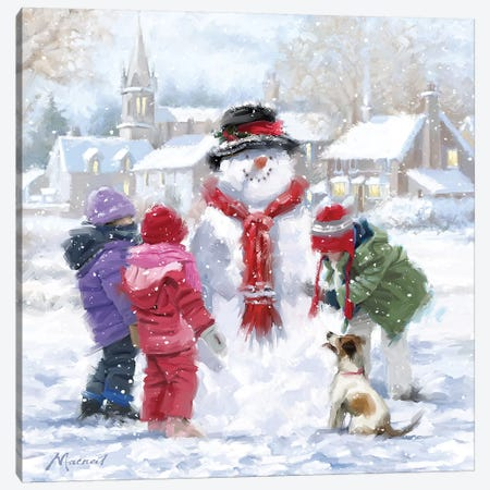 Making Snowman Canvas Print #MNS391} by The Macneil Studio Canvas Print