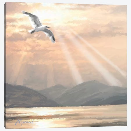Golden Lake Canvas Print #MNS3} by The Macneil Studio Canvas Artwork