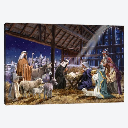 Nativity Canvas Print #MNS401} by The Macneil Studio Canvas Print