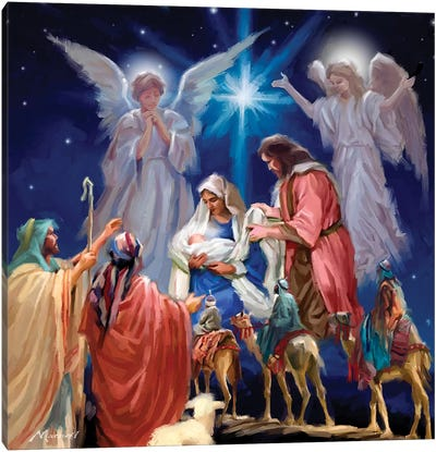 Nativity Collage Canvas Art Print