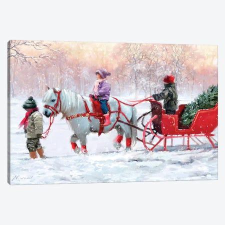 Pony Cart I Canvas Print #MNS419} by The Macneil Studio Canvas Artwork