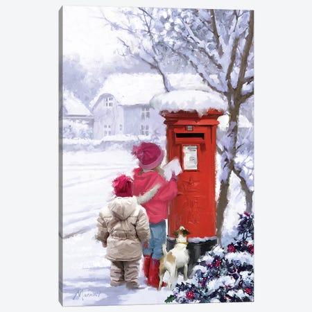 Posting Card I Canvas Print #MNS424} by The Macneil Studio Canvas Artwork