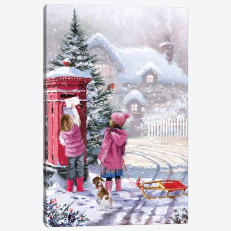 Posting Cards Canvas Print #MNS426} by The Macneil Studio Canvas Art