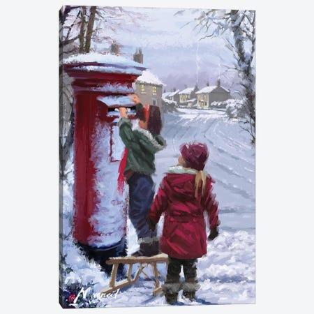 Posting Letter II Canvas Print #MNS428} by The Macneil Studio Canvas Art Print