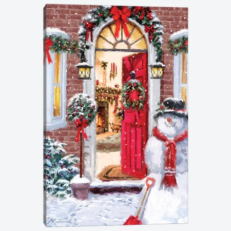 Red Door I Canvas Print #MNS439} by The Macneil Studio Canvas Wall Art