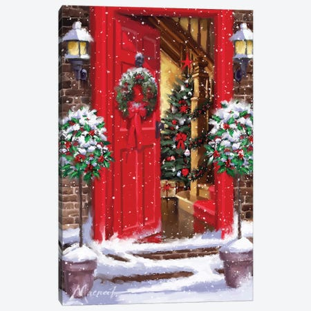 Red Door II Canvas Print #MNS442} by The Macneil Studio Art Print