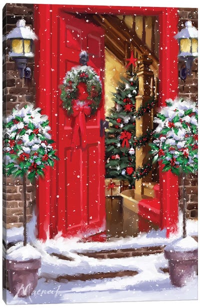 Red Door II Canvas Art Print