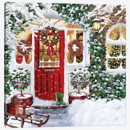 Red Door IV Canvas Print #MNS444} by The Macneil Studio Canvas Wall Art