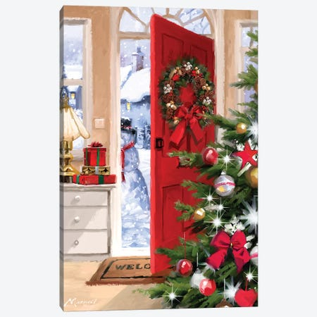 Red Door Interior Canvas Print #MNS446} by The Macneil Studio Canvas Art