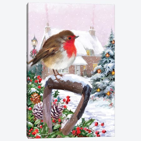 Robin III Canvas Print #MNS458} by The Macneil Studio Canvas Art