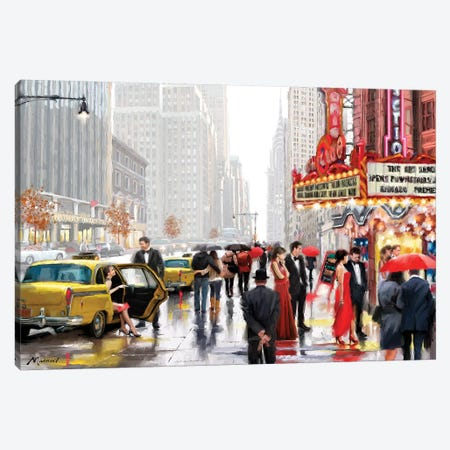 New York Theatre Canvas Print #MNS45} by The Macneil Studio Art Print