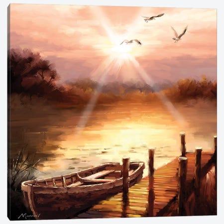 Evening Lake Canvas Print #MNS46} by The Macneil Studio Art Print
