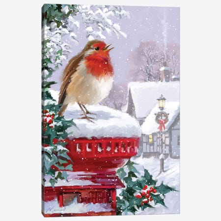 Robin Postbox Canvas Print #MNS478} by The Macneil Studio Canvas Art