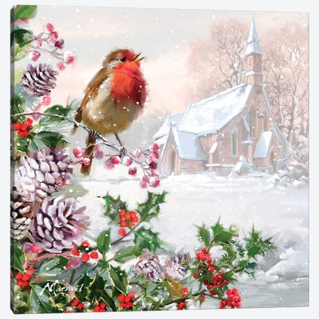 Robin Song I Canvas Print #MNS479} by The Macneil Studio Canvas Wall Art