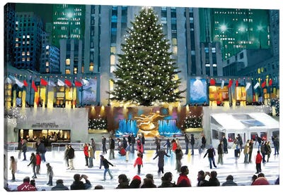 Rockefeller Center Canvas Art Print
