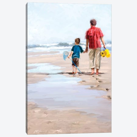 Beach Combers Canvas Print #MNS48} by The Macneil Studio Canvas Art