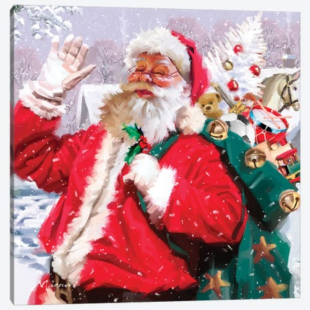 Santa VII Canvas Print #MNS492} by The Macneil Studio Canvas Artwork