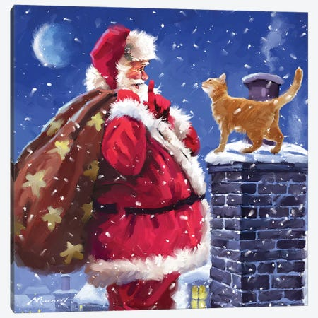 Santa XI Canvas Print #MNS496} by The Macneil Studio Art Print
