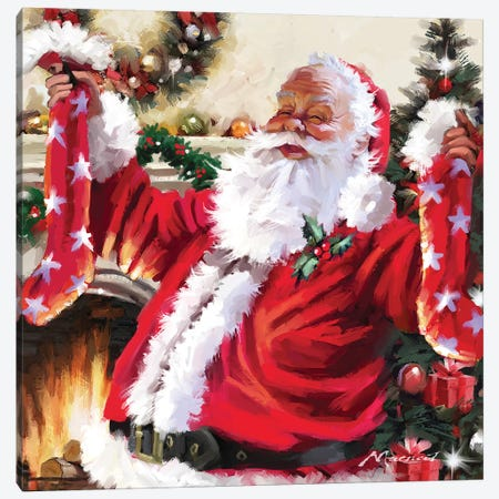 Santa XII Canvas Print #MNS497} by The Macneil Studio Canvas Art Print
