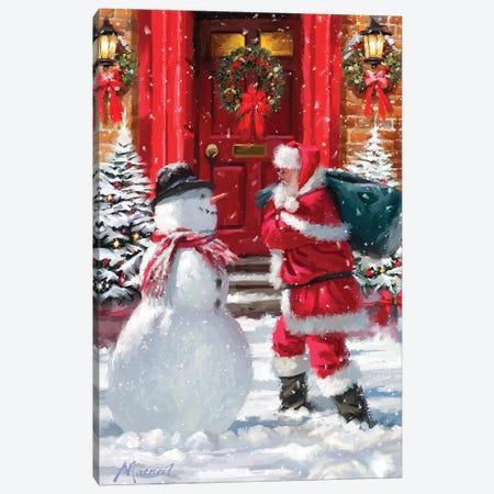 Santa And Red Door Canvas Print #MNS506} by The Macneil Studio Art Print