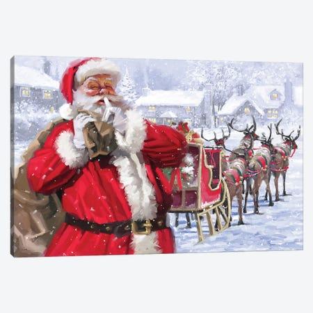 Santa And Sleigh Amend Canvas Print #MNS510} by The Macneil Studio Canvas Art Print