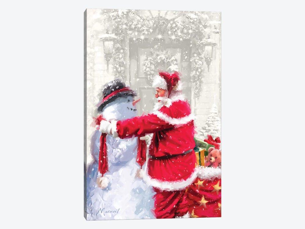 Santa And Small Snowman by The Macneil Studio 1-piece Art Print