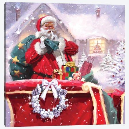 Santa Delivery Canvas Print #MNS523} by The Macneil Studio Canvas Artwork