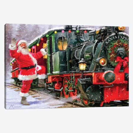 Santa Express II Canvas Print #MNS525} by The Macneil Studio Art Print