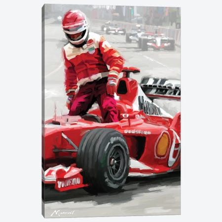Driver Canvas Print #MNS52} by The Macneil Studio Art Print
