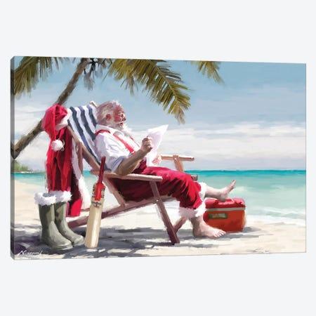 Santa On Beach I Canvas Print #MNS538} by The Macneil Studio Canvas Print