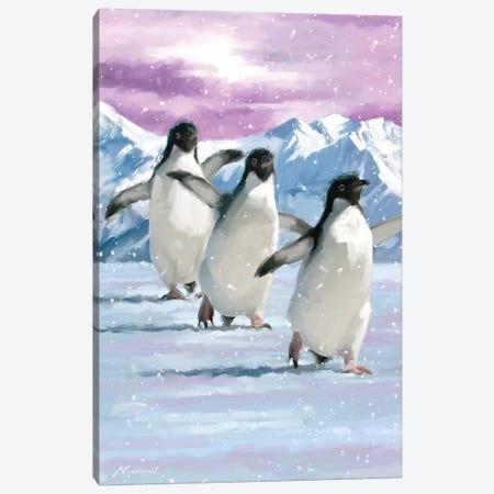 Penguins Canvas Print #MNS53} by The Macneil Studio Canvas Art Print
