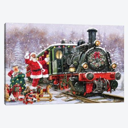 Santa's Express Canvas Print #MNS547} by The Macneil Studio Art Print