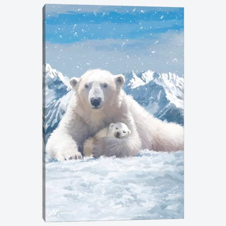 Polar Bear Canvas Print #MNS54} by The Macneil Studio Canvas Artwork