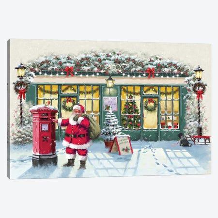 Santa With Shops Canvas Print #MNS558} by The Macneil Studio Canvas Print
