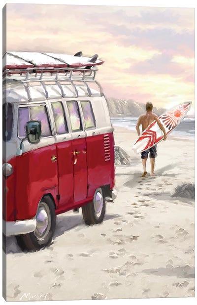 Camper Van Canvas Art Print