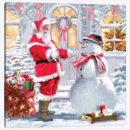 Santa's Snack Canvas Print #MNS566} by The Macneil Studio Canvas Art Print