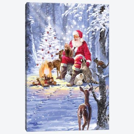 Santa's Campfire Canvas Print #MNS569} by The Macneil Studio Canvas Wall Art