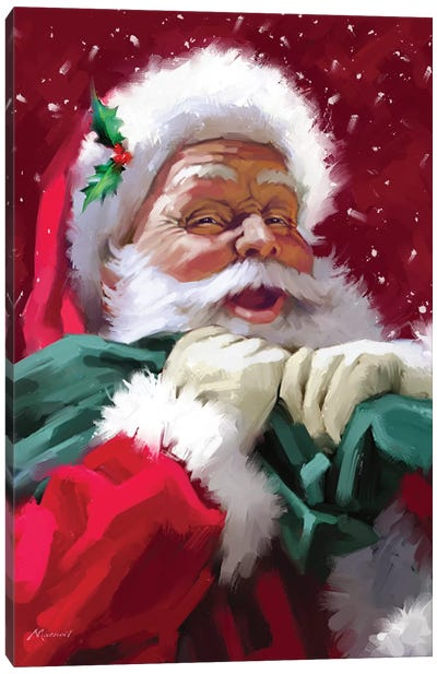 Santa's Face Canvas Art Print